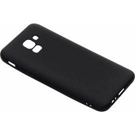 Merkloos Zwart Color TPU hoesje Samsung Galaxy J6