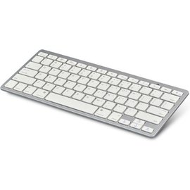 Merkloos Wireless Keyboard Draadloos toetsenbord - Bluetooth - Wit-Zilver