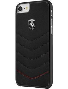 Ferrari Ferrari lederen hardcase *origineel product* voor iPhone 7 Plus & iPhone 8 Plus Zwart.