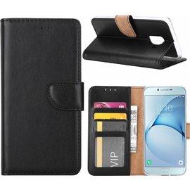 Merkloos Samsung Galaxy S5 / S5 Neo / S5 Plus portemonnee hoes / geschikt voor 3 pasjes Zwart