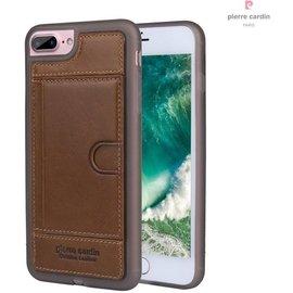 Pierre Cardin Pierre Cardin silicone backcover voor Apple iPhone 7/8 Plus - Bruin
