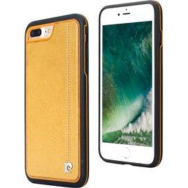 Pierre Cardin Pierre Cardin silicone backcover voor Apple iPhone 7/8 Plus - Geel