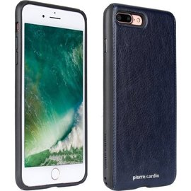 Pierre Cardin Pierre Cardin silicone backcover voor Apple iPhone 7/8 Plus - Blauw