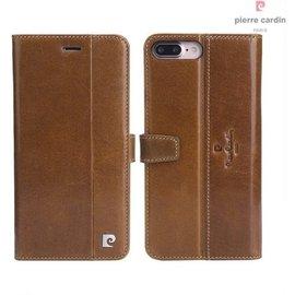 Pierre Cardin Pierre Cardin iPhone 7 Plus hoesje cognac leer