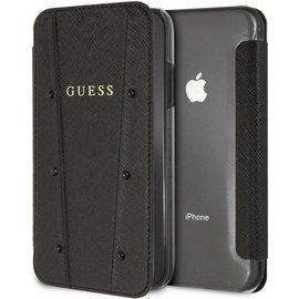 """Guess Guess Kaia Book Case voor Apple iPhone X/XS (5.8"""") - Zwart"""
