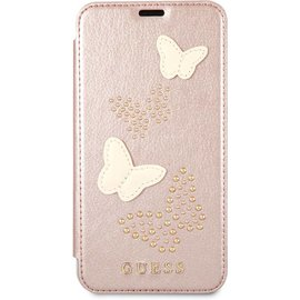 Guess Guess Vlinders Design Lederen Booktype Case iPhone X