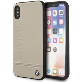 BMW BMW Taupe Logo Leather Hard Case iPhone X