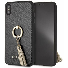 Guess iPhone Xs Max hoesje - Guess - Zwart - Kunstleer