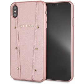 Guess Guess backcover voor iPhone Xs Max - Rose Gold