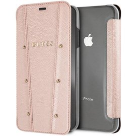 Guess Guess boekmodel voor iPhone Xs Max - Rose Gold