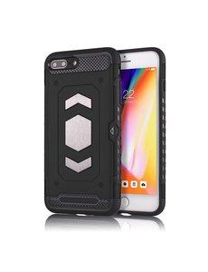 Ntech Ntech Apple iPhone 7+ / 8+ Luxe Armor Case met Pashouder - Zwart