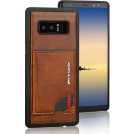 Pierre Cardin Pierre Cardin silicone backcover voor Note 8 - Bruin