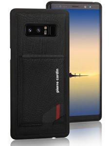 Pierre Cardin Pierre cardin echt lederen backcover met pashouder voor Samsung Note 8. Zwart