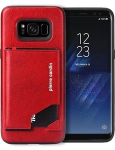 Pierre Cardin Pierre Cardin silicone backcover voor Samsung Galaxy S8 - Rood