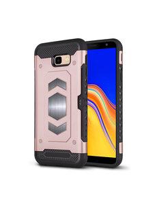 Ntech Ntech Samsung Galaxy J4 Plus (2018) Luxe Armor Case - Rose Goud
