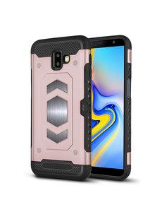 Ntech Ntech Samsung Galaxy J6 Plus (2018) Luxe Armor Case - Rose Goud