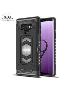 Ntech Ntech Samsung Galaxy Note 9 Luxe Armor Case met Pashouder - Zwart