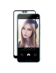 Ntech Ntech Huawei Honor 10 full cover Screenprotector Tempered Glass Zwart