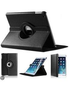 Merkloos iPad Mini 1 2 en 3 hoesje Multi-stand Case 360 graden draaibare Beschermhoes Zwart