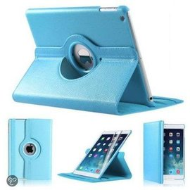 Merkloos iPad Mini 1 2 en 3 Hoes Cover Multi-stand Case 360 graden draaibare Beschermhoes Licht blauw