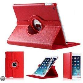 Merkloos iPad Mini 1 2 en 3 Hoes Cover Multi-stand Case 360 graden draaibare Beschermhoes Rood