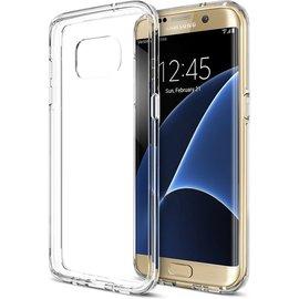Merkloos Samsung Galaxy S7 Edge, Ultra dun, anti-slip, schokbestendig, vochtbestendig (waterproof), Volledig doorzichtig, Robuuste gel/ cover/ case/ hoesje - MSD Editie ( Aquaphalt)