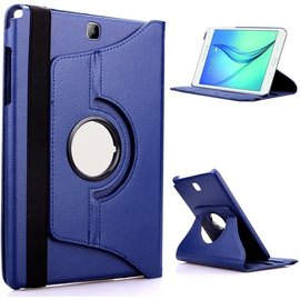 Merkloos Samsung Galaxy Tab S2 9.7 Inch Hoes Cover 360 graden draaibare Case donker blauw