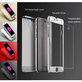Merkloos Full Body 360 Super Thin Case Cover Hoesje voor iPhone 7 Plus ZWART
