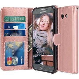 freelancer Samsung Galaxy A5 2017 - Book PU lederen Portemonnee hoesje Book case goud