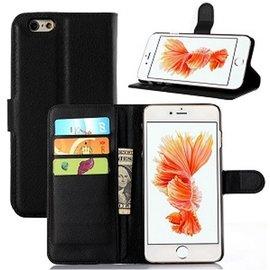 Merkloos iPhone 7 Portemonnee Hoesje Case Zwart
