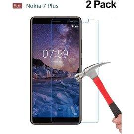 Merkloos 2 Pack - Nokia 7+ (Plus) Glazen Tempered Glass / Beschermglas Screen Protector