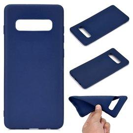 Ntech Ntech Samsung Galaxy S10+ (Plus) Blauw TPU Back Cover Hoesje
