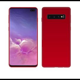 Ntech Ntech Samsung Galaxy S10+ (Plus) Rood TPU Back Cover Hoesje