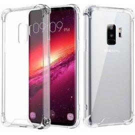 Merkloos Samsung Galaxy S9 Anti Burst- Anti Shock Back Cover – Crystal-clear TPU Bumper Silicone case met verstevigde randen