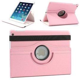 Merkloos iPad Air 2 – 360 Graden draaibare Hoes – Lederen – Licht Roze