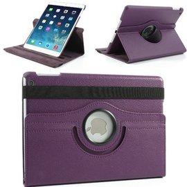 Merkloos iPad Air 2 – 360 Graden draaibare Hoes – Lederen – Paars