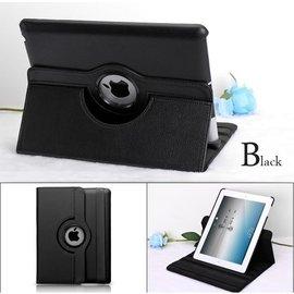Merkloos Apple iPad Air 2 - 360- draaibare Hoes - Lederen - Zwart