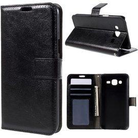 Merkloos Cyclone Cover wallet case hoesje Samsung Galaxy J3 2016 zwart