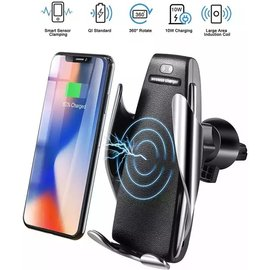 Merkloos Ntech Smart Sensor Universele Telefoonhouder Met Draadloze autolader Wireless Charger & USB-C Kabel