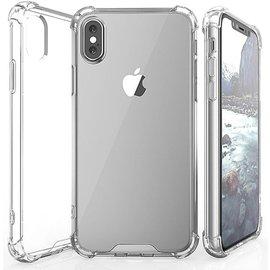 Merkloos Schokbestendig TPU telefoonhoesje voor iPhone X / iPhone 10 Met Versterkde Rand (Shockproof) - Transparant