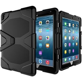 Merkloos Survivor Tough Shockproof Full Body case hoesje zwart iPad mini 1 2 3