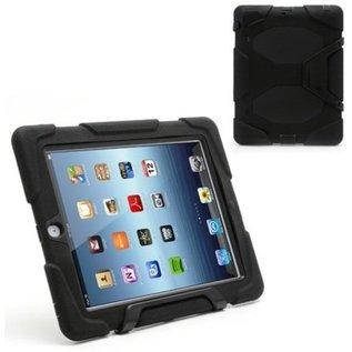 Merkloos SMH Royal - Survivor Tough Combo Case voor iPad 2 / 3 / 4 Hoesje / Cover / Hoes / Tablethoes | Zeer sterk en robuust - Zwart