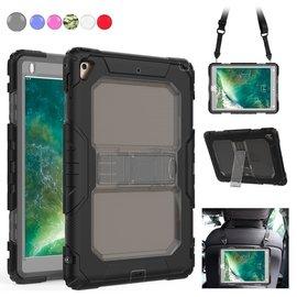 Ntech Ntech iPad 9.7 (2018 / 2017) Armor Hoesje met Draagriem - Zwart
