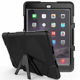 Ntech Ntech Apple iPad Air 2 Extreme Armor hoesje met standaard & 3 lagen shockproof Case-Zwart