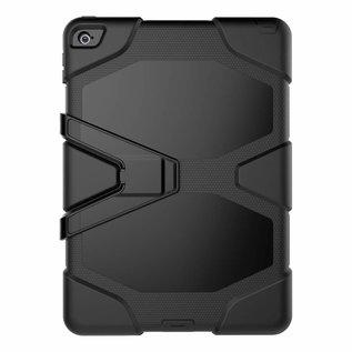 Ntech Ntech iPad Air 2 Hybrid Armor Hoes met standaard & 3 lagen shock proof case - Zwart