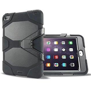 Ntech Ntech iPad mini 4 Hybrid Armor Hoes met standaard & 3 lagen shockproof Case-Zwart