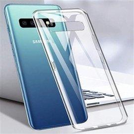 Merkloos Hoesje voor Samsung Galaxy S10 Plus (S10+), gel case, volledig doorzichtig