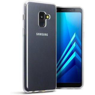 Merkloos Hoesje voor Samsung Galaxy A8 (2018), gel case, doorzichtig