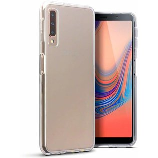 Merkloos Hoesje voor Samsung Galaxy A7 (2018), gel case, doorzichtig