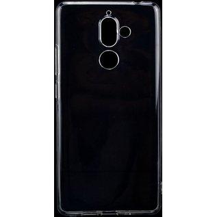 Merkloos Hoesje voor Nokia 7 Plus, gel case, doorzichtig